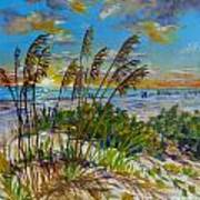 Siesta Beach Sunset Dunes Poster