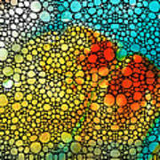 Siesta Sunrise - Stone Rock'd Art Painting Poster