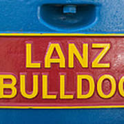 Sign Lanz Bulldog On A Tractor Poster