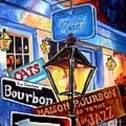 Signs Of Bourbon Street Poster
