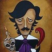 Silence A Poe Caricature Poster