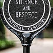 Silence And Respect Poster by Steve Gadomski