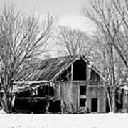 Silent Barn In The Winter Poster