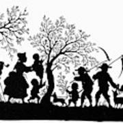 Silhouette Family Life Poster