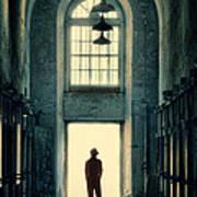 Silhouette In Doorway Poster