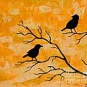 Silhouette Orange Poster