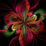 Silk Butterfly Abstract Poster