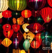 Silk Lanterns In Vietnam Poster