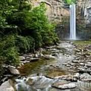 Silken Water Summer Waterfall Poster
