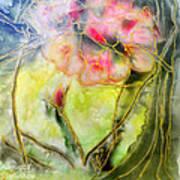 Silky Almond Flower Poster