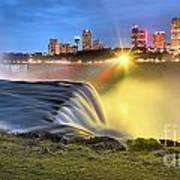 Silky Niagara Falls Panoramic Sunset Poster
