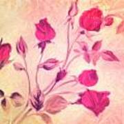 Silky Red Roses Poster