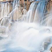 Silky Waterfall Splash Poster