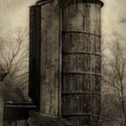 Silo At Sunrise Poster