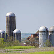 Silos - Norristown Farm Park Poster by Bill Cannon