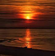 Silouhette In Sunset  Poster