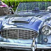 Silver 1963 Austin Healey Roadster 3000 Poster