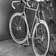 Silver Bike Bw Poster