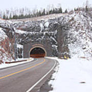 Silver Creek Cliff Tunnel Winter 1 Poster