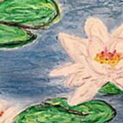 Silver Lillies Poster by Daniel Dubinsky
