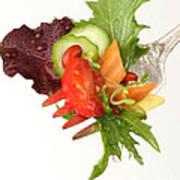Silver Salad Fork Poster