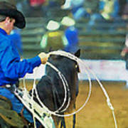 Silver Spurs Rodeo Outrider Poster