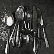 Silverware With Salt Poster