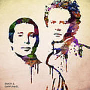 Simon And Garfunkel Poster by Aged Pixel