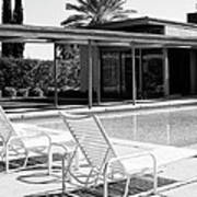 Sinatra Pool Bw Palm Springs Poster