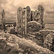 Sinclair Castle Scotland - 2 Poster