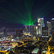 Singapore Central Business District Skyline Poster