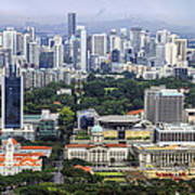 Singapore City Aerial View Poster