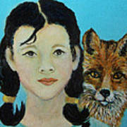 Sinopa Little Fox Poster by The Art With A Heart By Charlotte Phillips