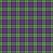 Sir Walter Scott Purple And Green Poster