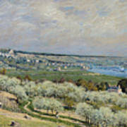 Sisley Saint-germain, 1875 Poster
