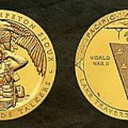 Sisseton Wahpeton Oyate Sioux Tribe Code Talkers Bronze Medal Art Poster