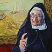 Sister Wendy Poster by Xueling Zou