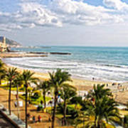 Sitges Spain On The Mediterranean Coast Poster