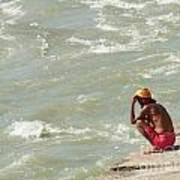 Sitting At Ganga Poster