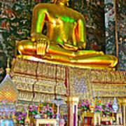 Sitting Buddha In Wat Suthat In Bangkok-thailand Poster