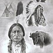 Sitting Bull Poster by Jessica Hallberg