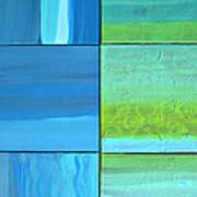 Six Blue Tiles Poster
