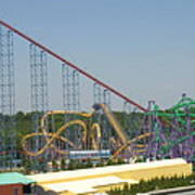 Six Flags America - Wild One Roller Coaster - 12123 Poster