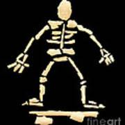 Skateboard Skeleton Poster