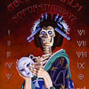 Skeleton Geisha Ouija Board Poster