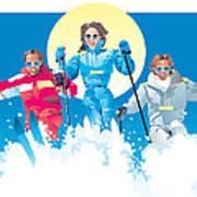 Ski Fun Art Poster