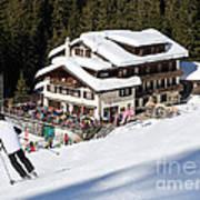 Skihaus Schifer Skier Davos Parsenn Klosters Poster