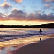 Skimboarder Sunset #2 Poster