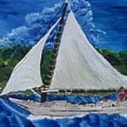 Skipjack Nathan Of Dorchester Poster by Debbie Nester
