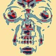 Skull In Negative Hope Poster